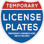 Temporary License Plates