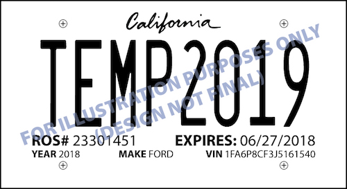 Temporary License Plate Blanks Printable By Both Laser and Inkjet